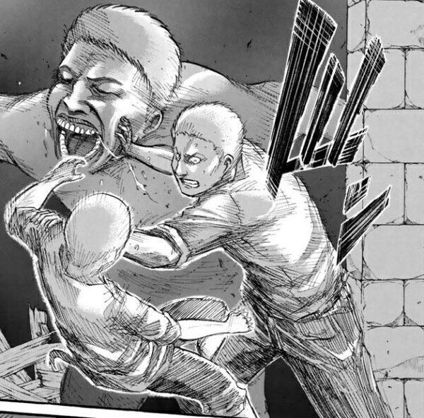【進撃の巨人】このシーンのライナー・ブラウン、体を張って仲間を守るナイスガイ
