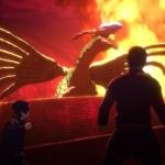 「空挺ドラゴンズ」7話。クオーン市中で大型の龍が息を吹き返して