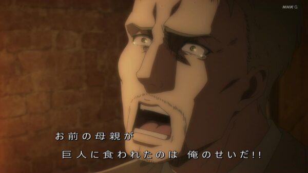 アニメ『進撃の巨人』64話は神回だったけど「時代や環境のせいじゃなくて…」の台詞カットが少し悲しい