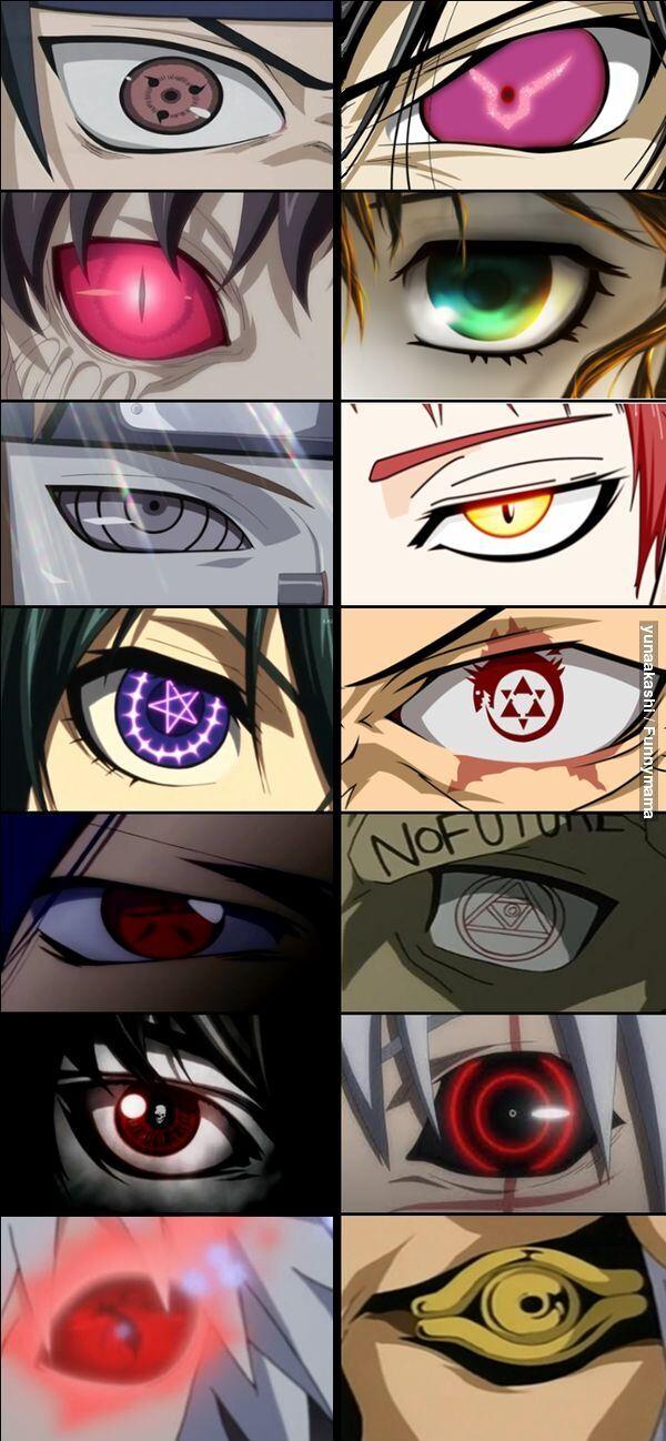 漫画やアニメに登場する魔眼の中でどれが一番欲しい?【海外の反応】