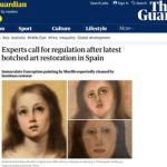 【画像】例のスペイン教会の絵画、業者に15万円で修復するも何かおかしいw