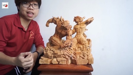 【画像】海外のチー牛「木でフィギュア作ったら人気者になれる…w」ニチャア→結果w
