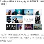 「機動戦士ガンダム 40th Anniversary Album ~BEYOND~」4月発売