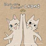 「しかるねこ」がアニメ映画「泣きたい私は猫をかぶる」応援隊長に就任! 2匹の猫がハイタッチするコラボイラストが到着